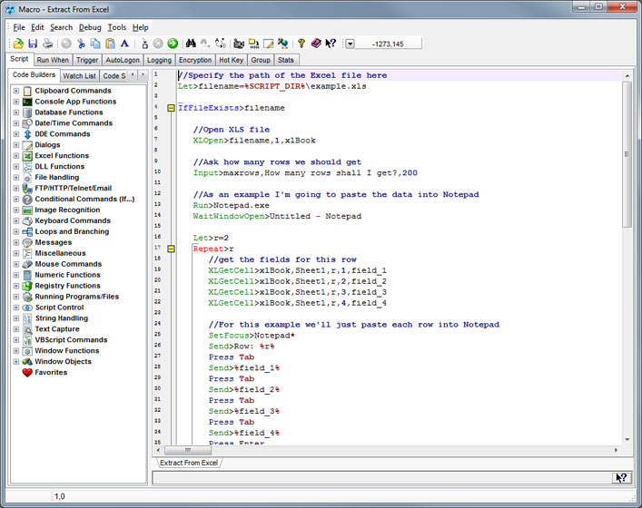 Macro Scheduler Software Automation Editor