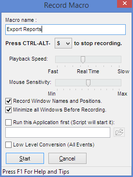 Using the Macro Recorder - Macro Scheduler Knowledge Base