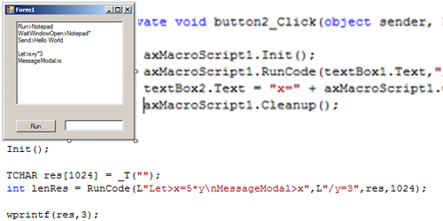 Click to view MacroScript SDK screenshots